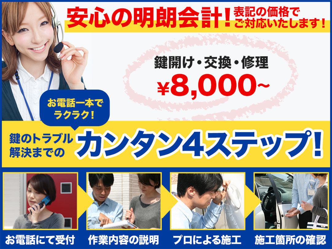 鍵のトラブル救急車【加茂郡八百津町エリア】の店内・外観画像1