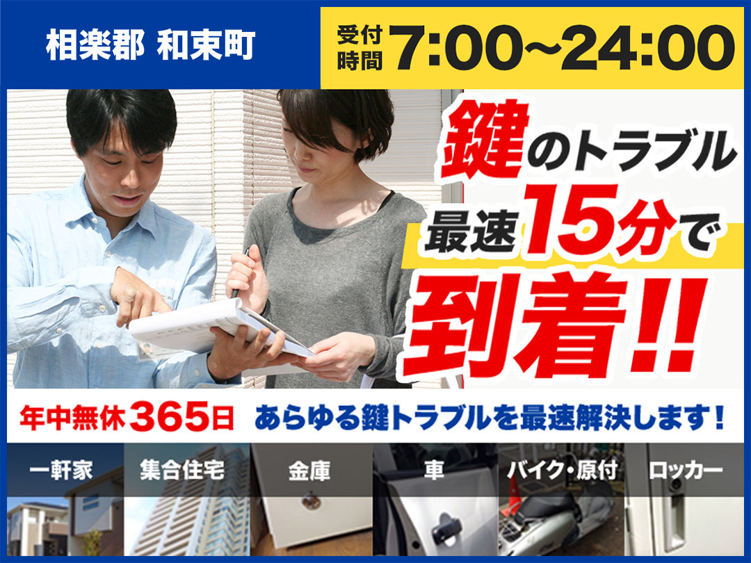 カギのトラブル救急車【相楽郡和束町エリア】のメイン画像