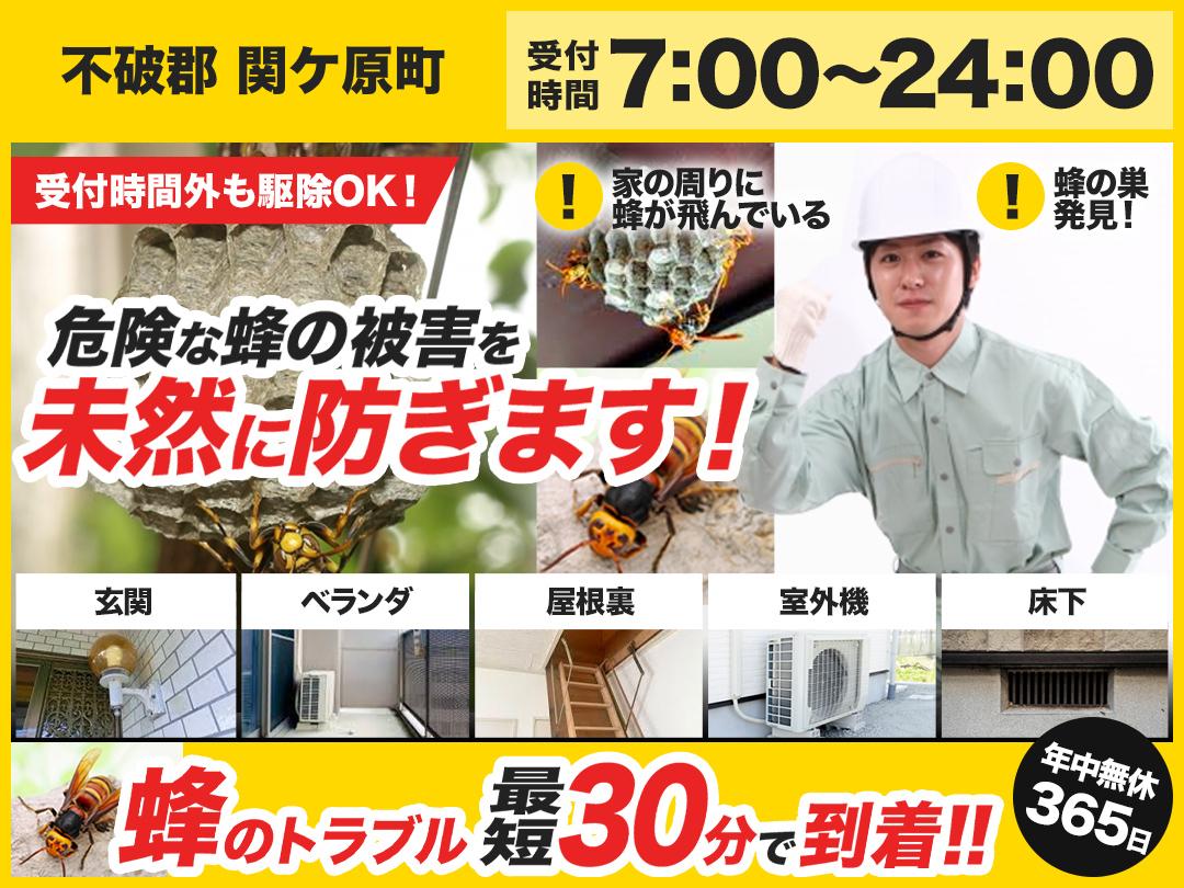 蜂駆除トラブル救急隊【不破郡 関ケ原町エリア】のメイン画像