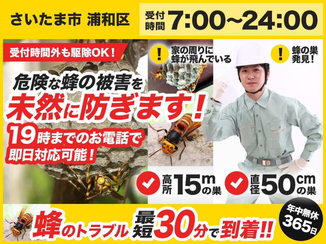 蜂の巣トラブル救Q車.24【さいたま市 浦和区エリア】のメイン画像