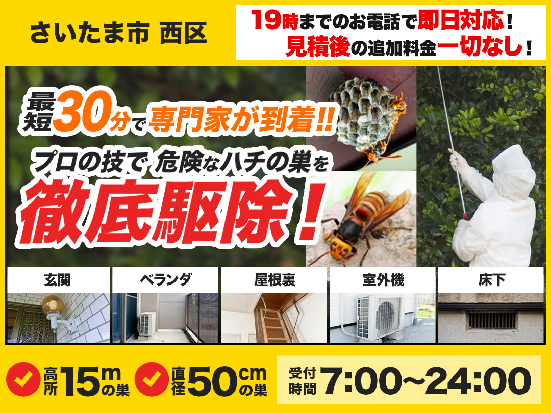 蜂の巣駆除救Q車.24【さいたま市 西区エリア】のメイン画像
