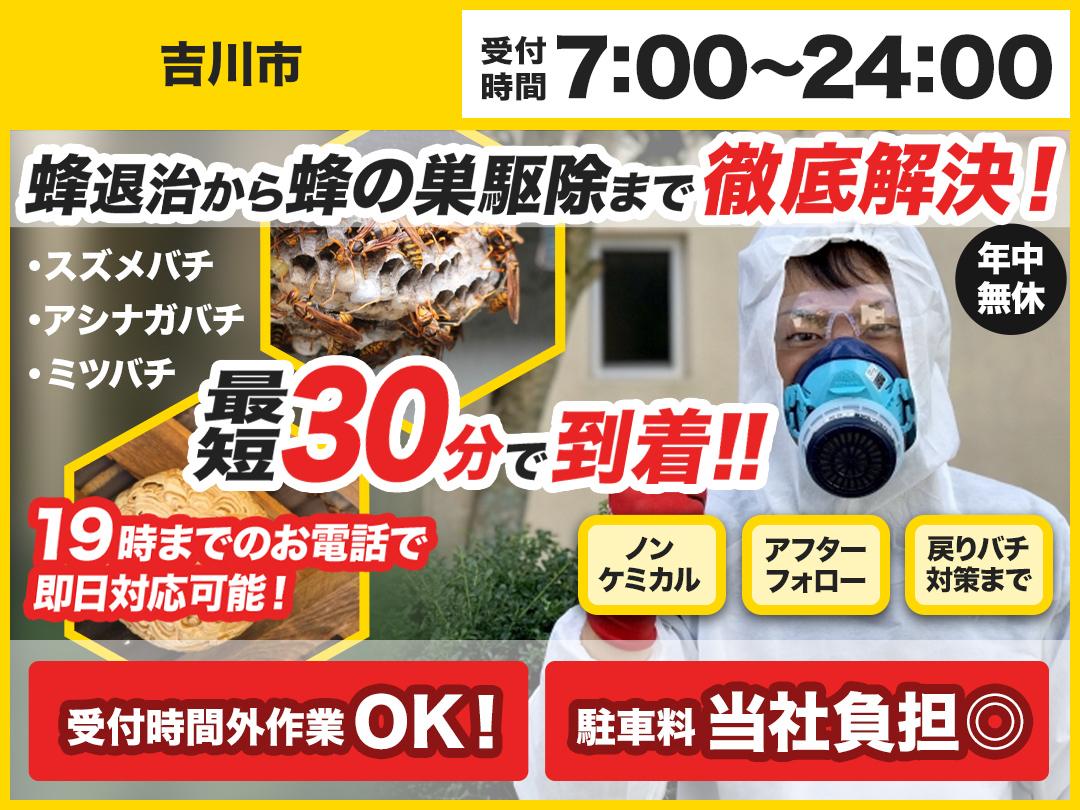 蜂の巣トラブル救急車.24【吉川市エリア】のメイン画像