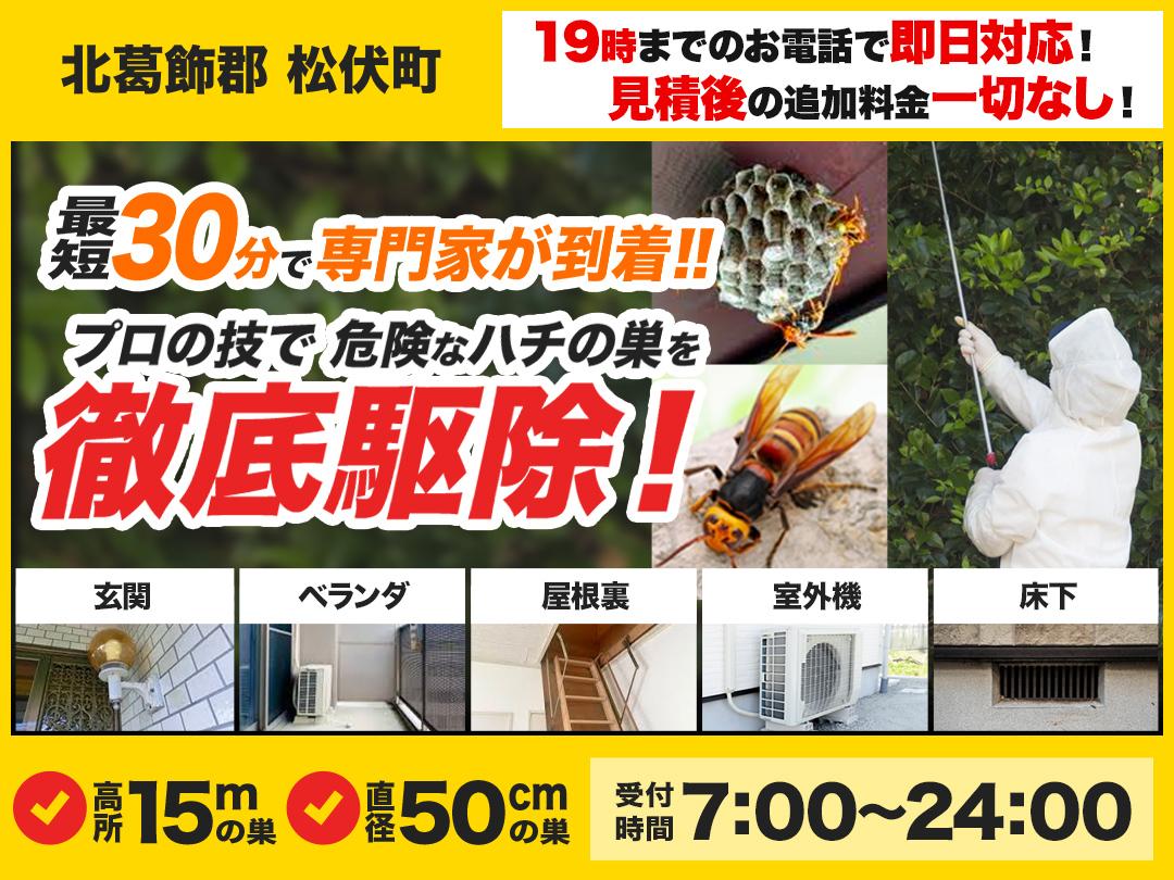 蜂の巣トラブル救Q車.24【北葛飾郡 松伏町エリア】のメイン画像
