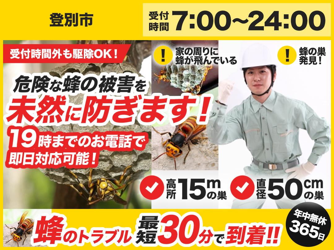 蜂駆除トラブル救急車【登別市エリア】のメイン画像